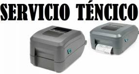 Servicio técnico impresora zebra gt800 usb/par/serial 203dpi therm