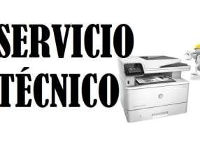 Servicio técnico impresora hp láser m426fdw pro multifunción e insumos