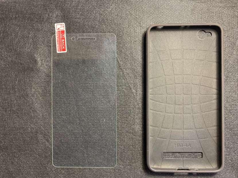 Case y protector de vidrio para Redmi 4A - 1