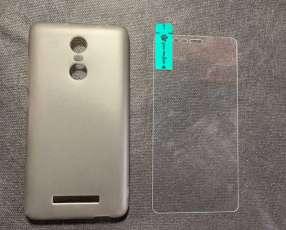 Case y protector de vidrio Xiaomi Redmi Note 3