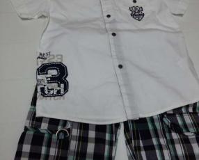 Conjunto para niño short y camisa