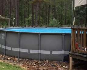 Piscinas intex ultra frame de 19.156 litros con filtro de arena