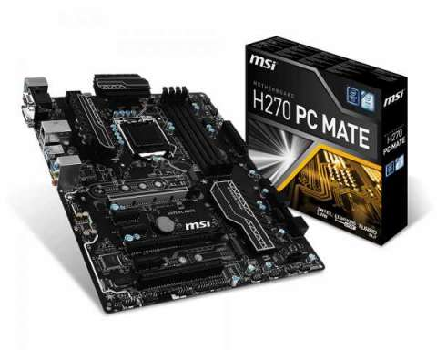 MB MSI LGA 1151 H270 PC MATE VGA/DVI/HDM