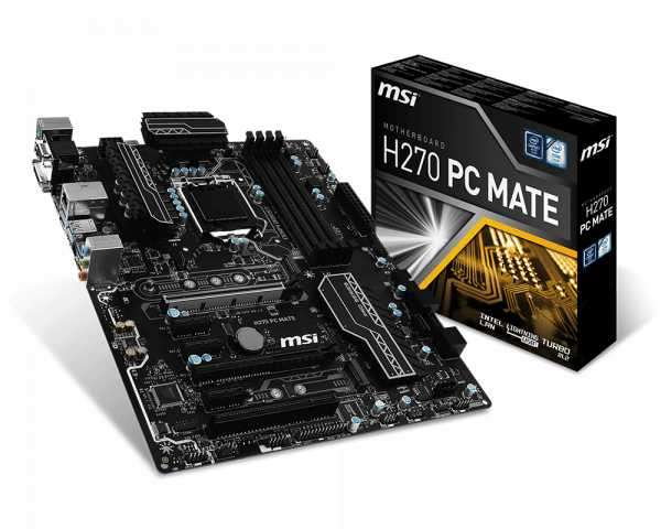 MB MSI LGA 1151 H270 PC MATE VGA/DVI/HDM - 0