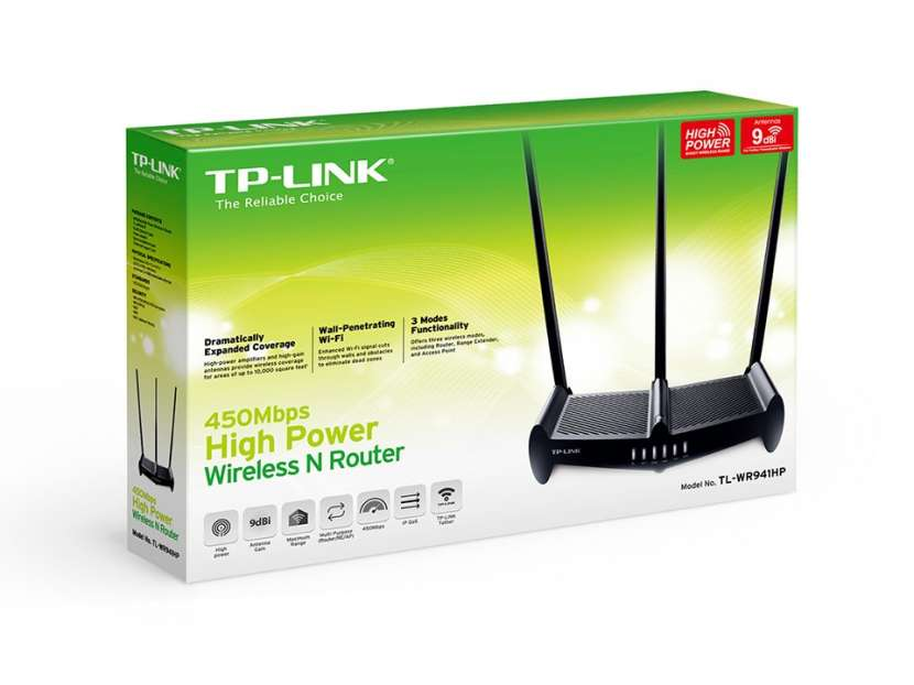 Wire router TP-LINK TL-WR941HP 450 mbps - 0