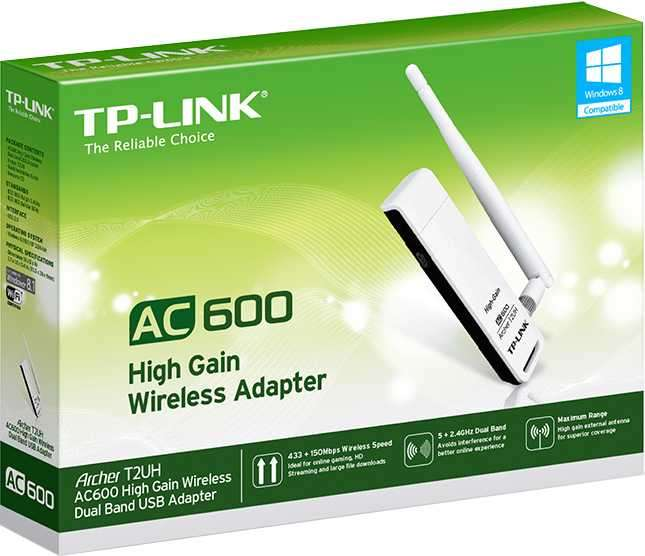Wire tp-link archer T2UH AC600 dual band wifi usb adapter - 1