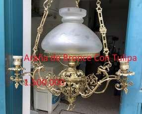 Araña de bronce