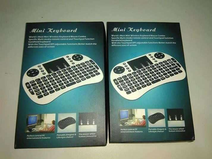 Mini teclado para smart tv tv box y pc - 1