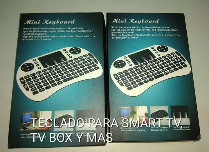 Mini teclado para smart tv tv box y pc - 0