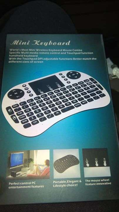 Mini teclado para smart tv tv box y pc - 2