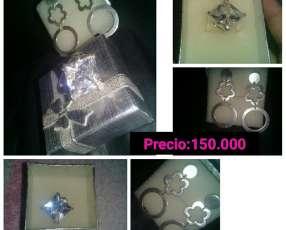 Aro y anillo de plata nuevo