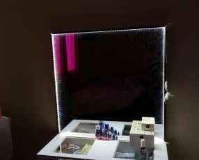 Espejo con luces led