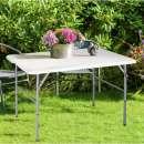 Mesa de jardín portátil plegable 6 lugares - 2