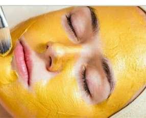 Mascarilla facial en oro
