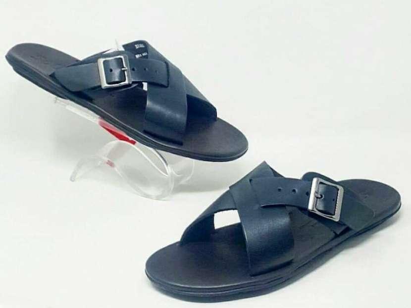 Zapatillas 100% Cuero para Caballeros
