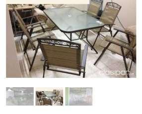 Mesa y sillas para patio americanos