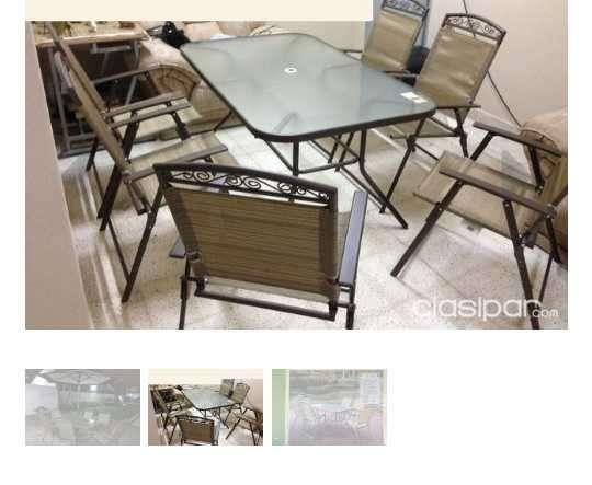 Mesa y sillas para patio americanos - 0