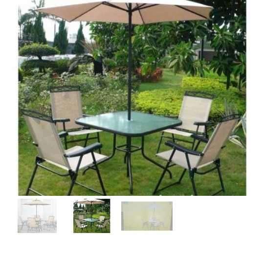 Mesa y sillas para patio americanos - 1