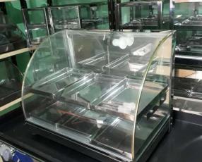Exhibidor de Empanadas Curvo inox 6 bandejas