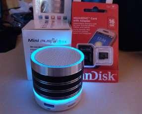 1 Parlante portátil y memoria 16 gb Sandisk