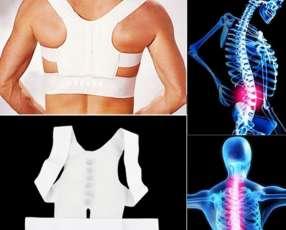 Corrector de postura magnético con soporte en espalda