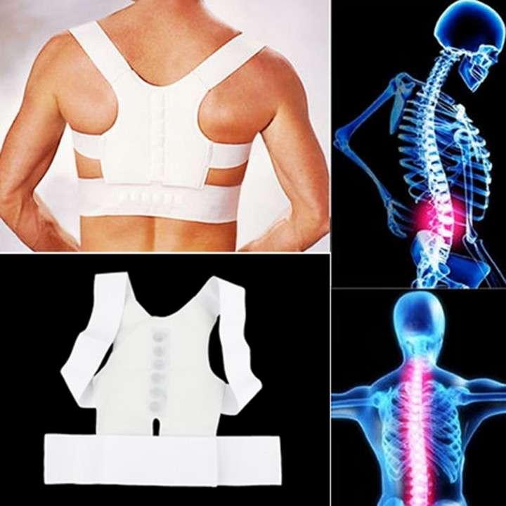 Corrector de postura magnético con soporte en espalda - 0