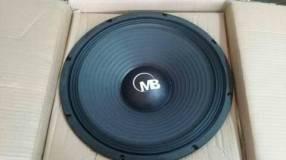Parlante 15 pulgadas Mega Bass 1200 watts