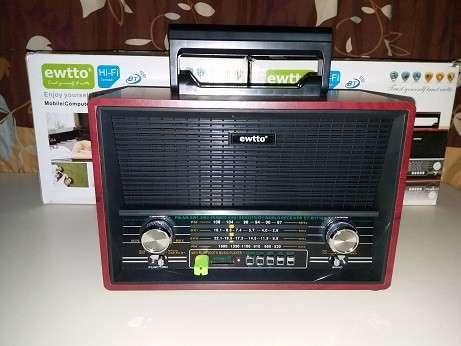 Radio tipo Victrola Retro Ewtto - 4