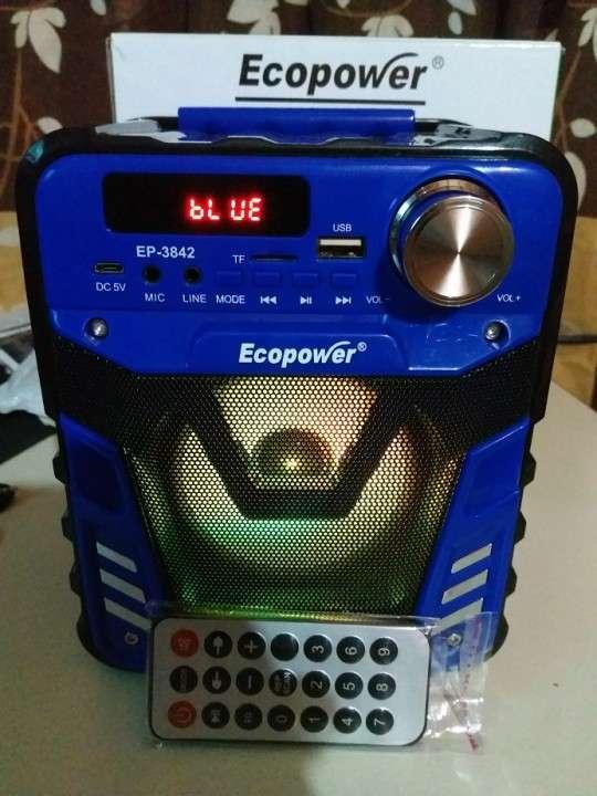 Parlante portátil Ecopower control remoto y luces rítmicas - 3