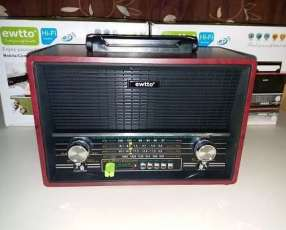 Radio tipo Victrola Retro Ewtto