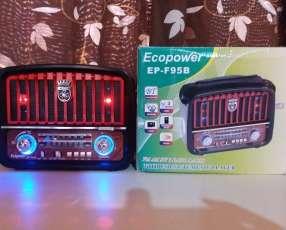 Radio portátil estilo Vintage linterna y luces multicolor
