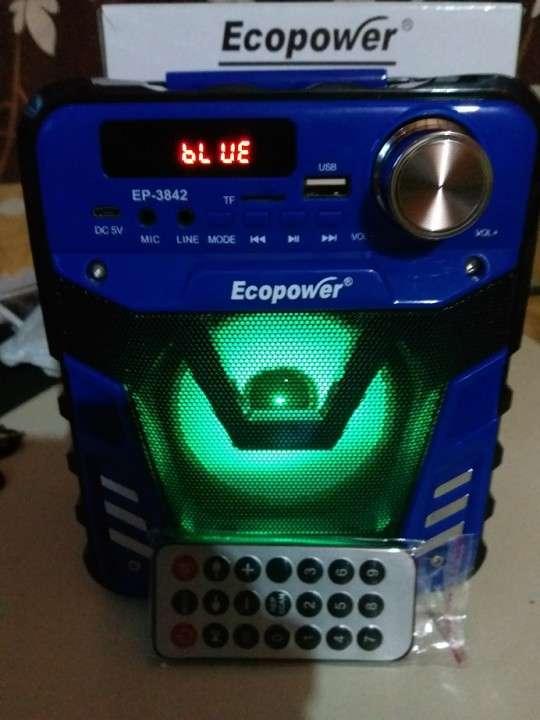 Parlante portátil Ecopower control remoto y luces rítmicas - 1