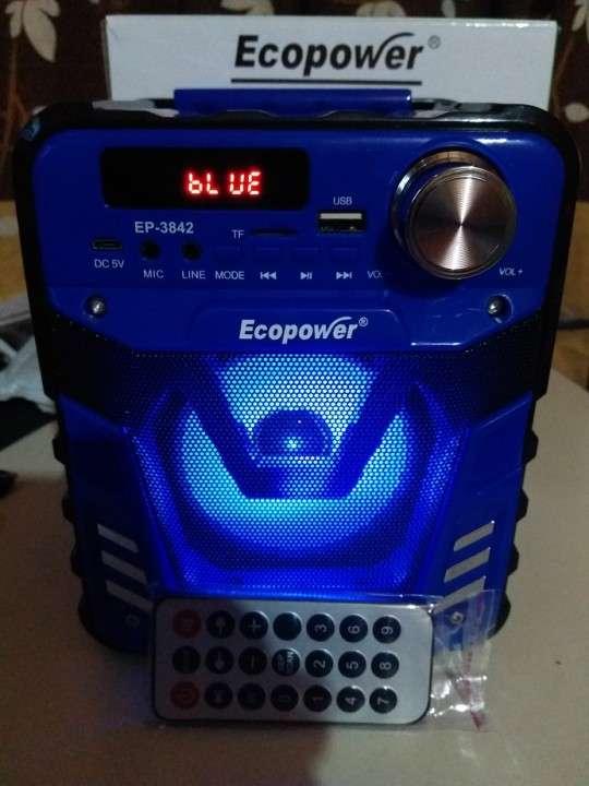 Parlante portátil Ecopower control remoto y luces rítmicas - 2