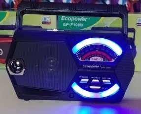 Radio portátil AM FM con luces multicolores rítmicas