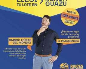 Terreno en Minga Guazú