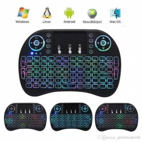 Mini teclado inalambrico RGB para Smart Tv o TV BOX