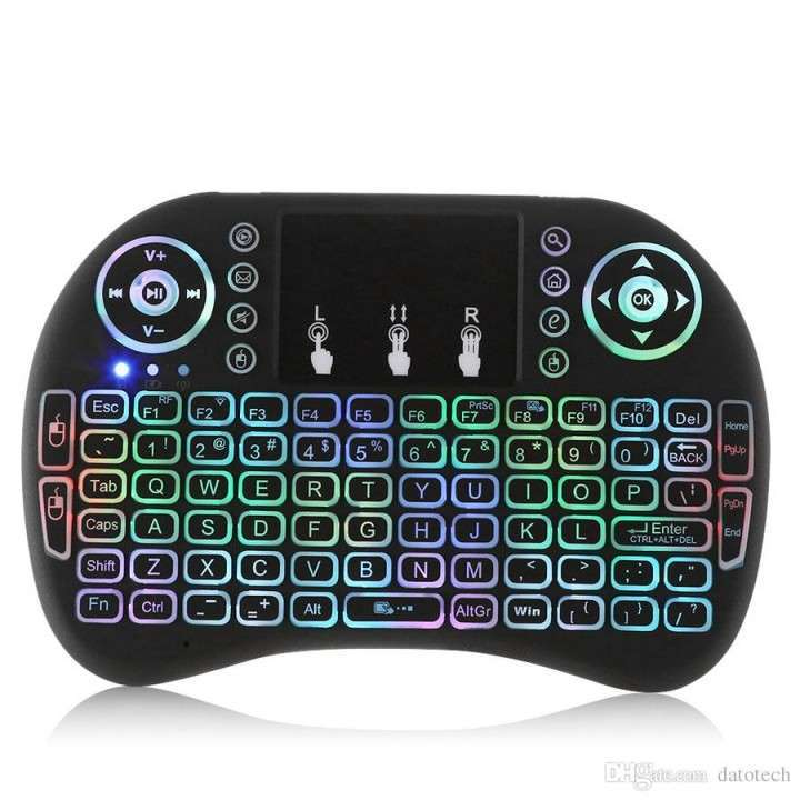 Mini teclado inalambrico RGB para Smart Tv o TV BOX - 1