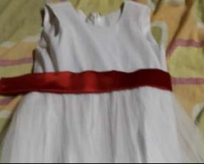 Vestido de cortejo para niña de 5 a 6 años