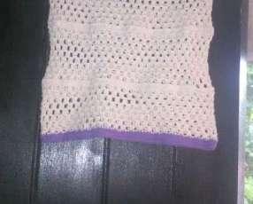Blusa de crochet para niña de 8 a 10 años