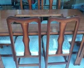 Mesa con 6 sillas