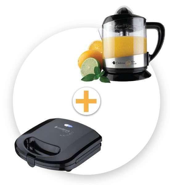 Exprimidor de frutas y Sandwichera mini grill Cadence - 0