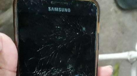 Samsung Galaxy A5 fisurado - 2