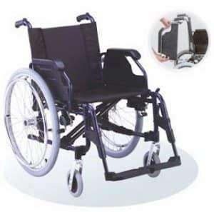 Silla de ruedas liliana de aluminio
