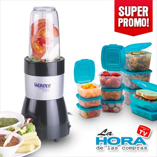 Procesador de alimentos wonder max y contenedores mr lid - 0