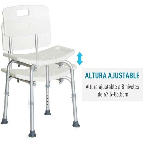 Silla para ducha de aluminio - 1