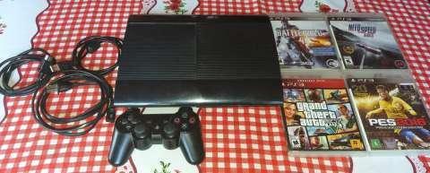 PlayStation 3 de 500 gb con 1 control y 4 juegos - 0