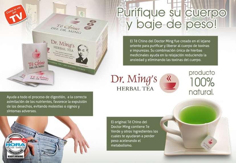 Té chino dr Ming 2 cajas