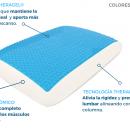 Almohada viscoelástica con capa de gel - 1