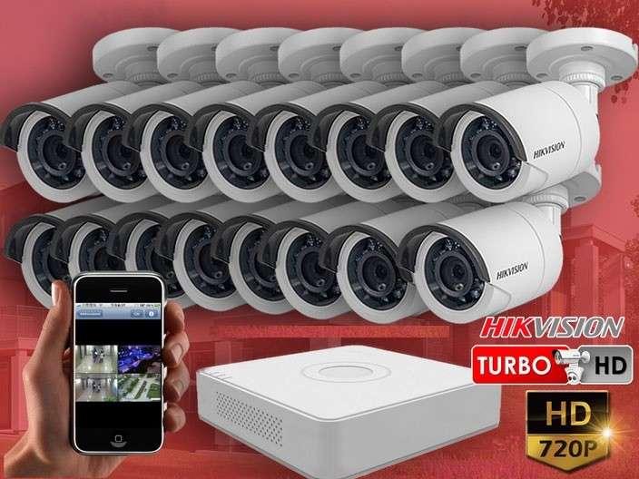 Kit de instalación hikvision de 16 cámaras - 0