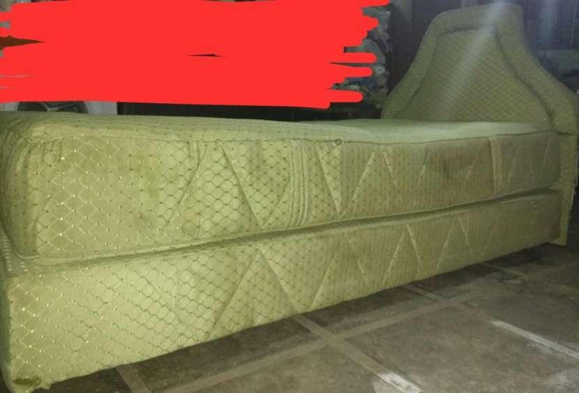 Colchón de una plaza 1.00 x 1.90 color verde - 2
